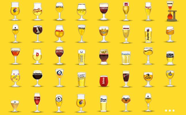 cervejas copos e emojis malte esmalte